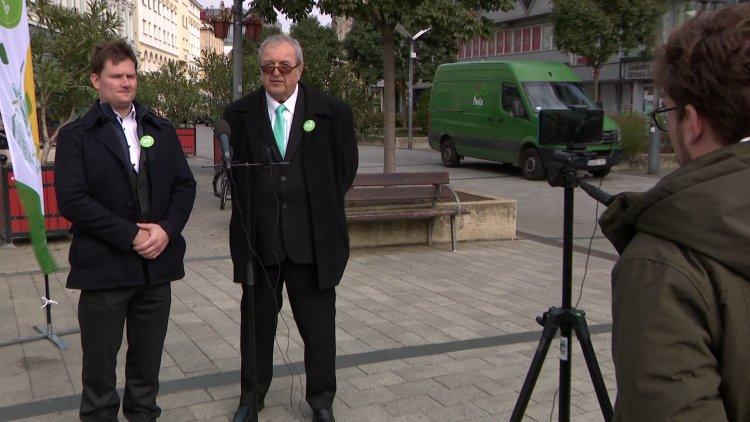 Az LMP Zöld garancia programjáról beszélt a párt társelnöke Nyíregyházán